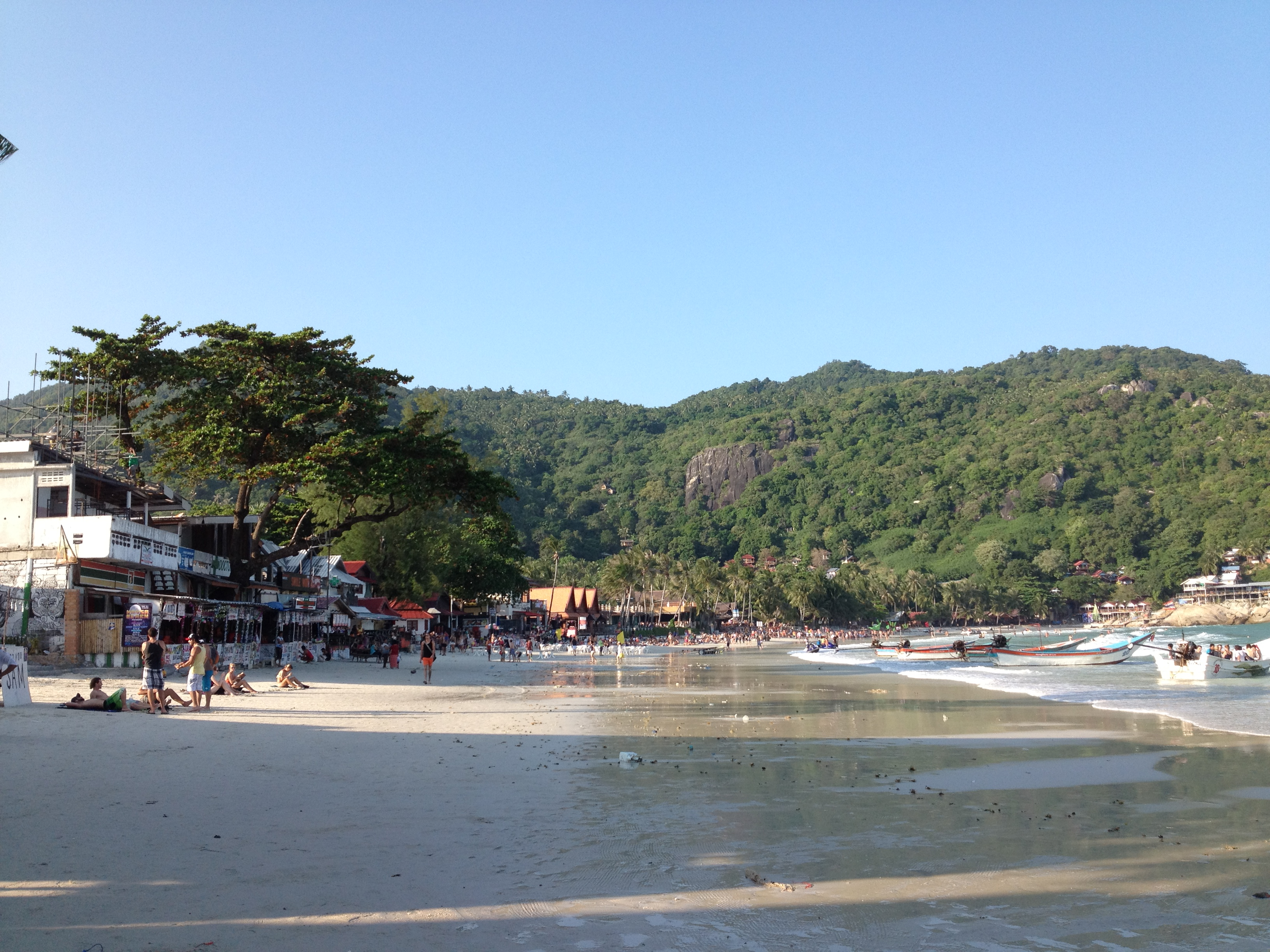 Beach where the Full Moon Party happens.